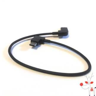 Mini cablu USB Type C la MicroUSB 2.0, adaptor OTG, 30cm