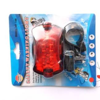 Stop far lanterna 5 leduri semnalizare lumini, suport prindere bicicleta