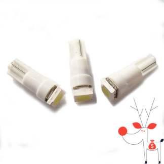 Set 5 becuri leduri auto bord 12v T5, 5050 cu 3 chip SMD, lumina alba