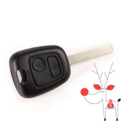 Carcasa cheie lamela Peugeot 307, 2 butoane
