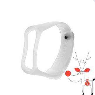 Curea silicon Xiaomi Mi3, bratara fitness Smartwatch Mi Band 3, alb