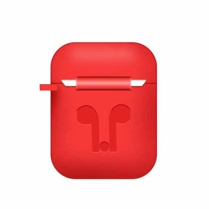 Carcasa silicon Apple Airpods, husa protectie suport casti