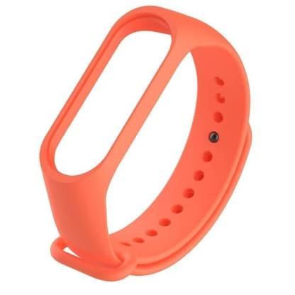 Bratara fitness Xiaomi Mi Band 3, curea schimb din silicon, orange