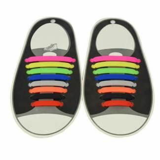 Set 16 sireturi elastice silicon pantofi sport incaltaminte copii, adulti