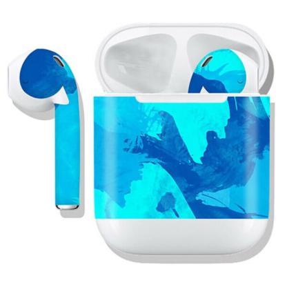Sticker decorativ suport casti Apple AirPods, decal protectie husa