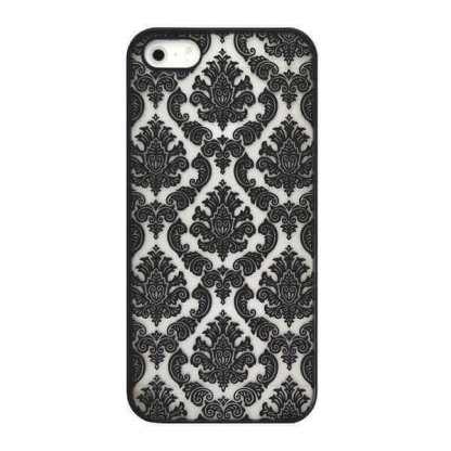husa+model+dantela+apple+iphone+5c+carcasa+protectie+spate+telefon+neagra