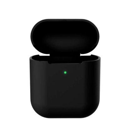 husa+protectie+silicon+apple+airpods+carcasa+suport+casti+neagra
