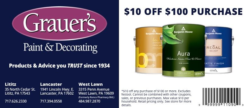 specials and coupons grauer s paint decorating on benjamin moore coupon id=46490