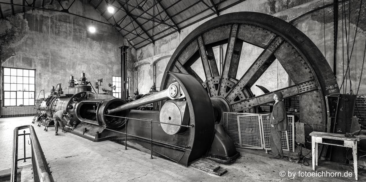 Dampffördermaschine auf dem Bergwerk Fürst Leopold in Hervest-Dorsten
