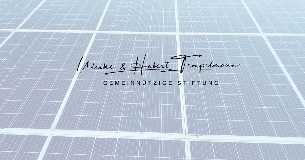 Ulrike & Hubert Tempelmann GEMEINNÜTZIGE STIFTUNG