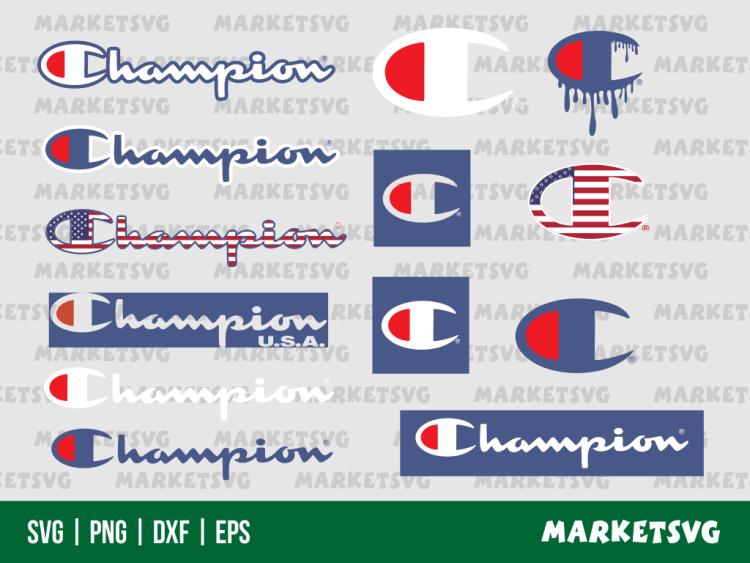champion logo blood drip SVG