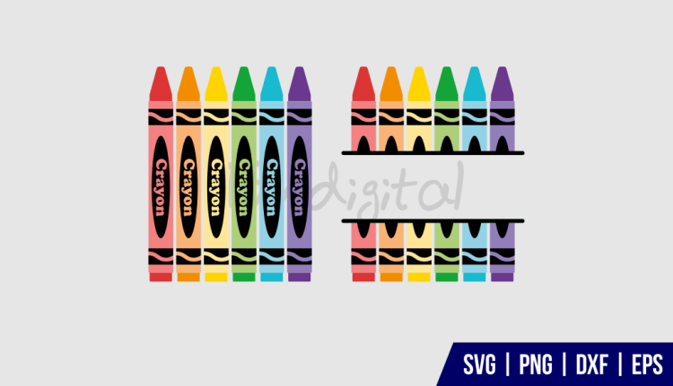 Crayon Monogram SVG