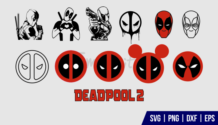 Deadpool SVG DXF PNG EPS