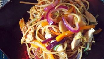 Thai peanut noodle stir fry gravel dine everything lo mein forumfinder Choice Image