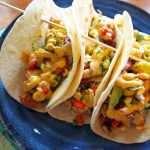 Chicken Tacos with Grilled Corn & Avocado Salsa