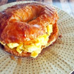 French Toast Croissant Breakfast Sandwiches