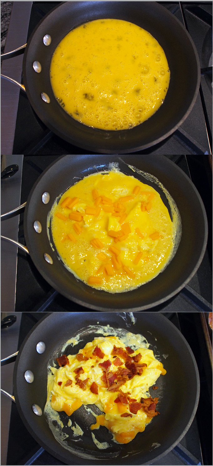 Perfect Quickandeasy French Toast Recipe Finally, Just Before The Eggs Are  Done Add The Bacon