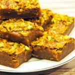 Brown Butter and Honey Pistachio Bars