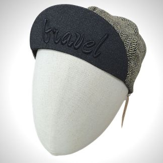casquette laine gravel motif tweed