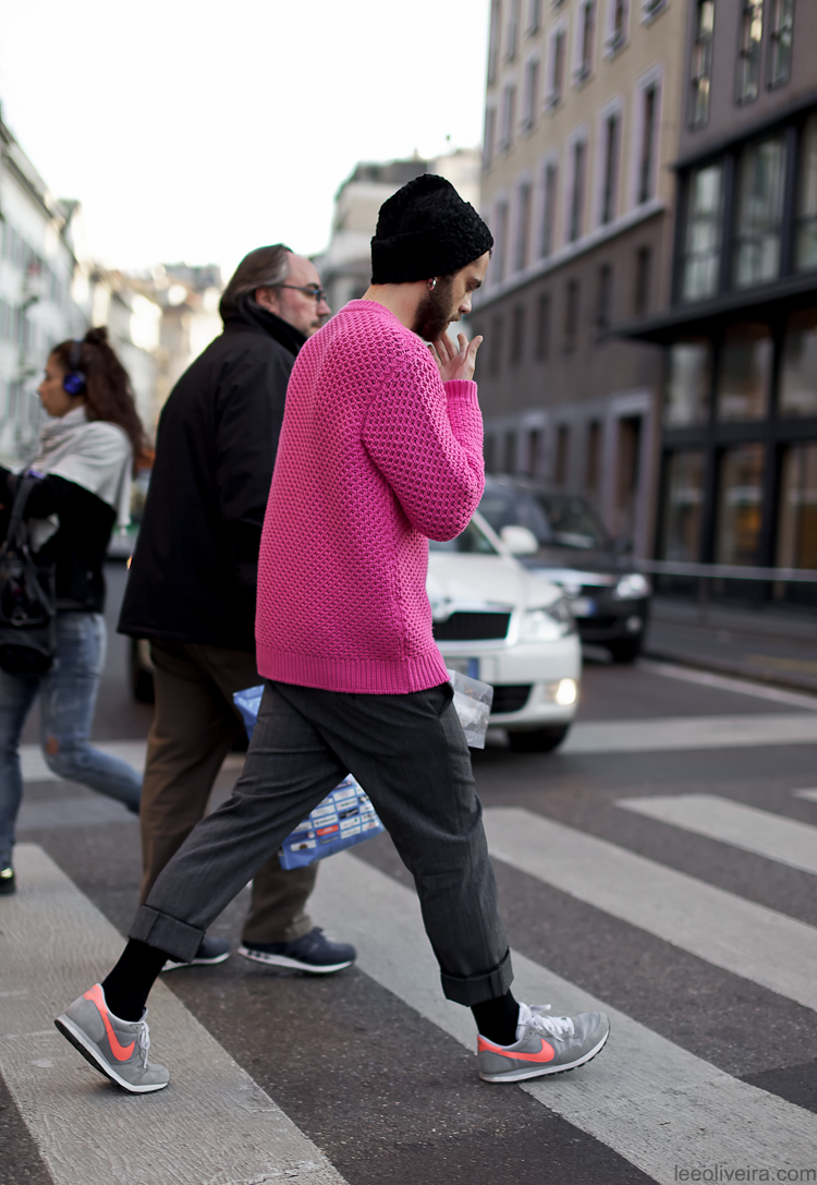 Mens Pink Street Style