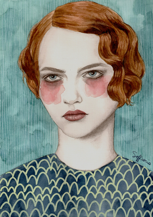Illustrated Portraits by Sofia Bonati