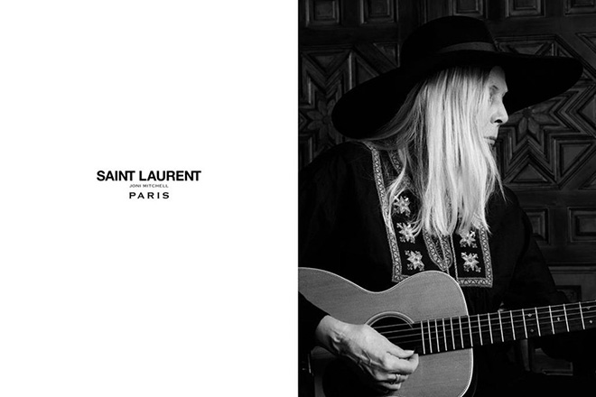 Joni Mitchell for Saint Laurent Campaign