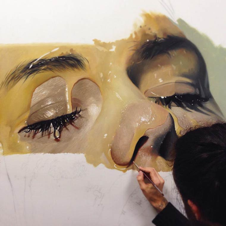 Sticky Hyperrealism Portraits by Mike Dargas (6)