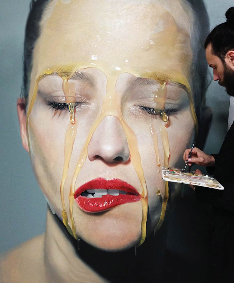 Sticky Hyperrealism Portraits by Mike Dargas (9)