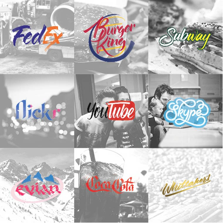 Famous Brands in Handwritten Calligraphy Form (1)
