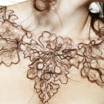 """""""Hair Necklace"""" by artist Kerry Howley"""