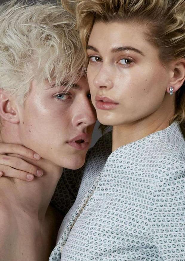 Lucky Blue Smith & Hailey Baldwin by Alexei Hay (5)
