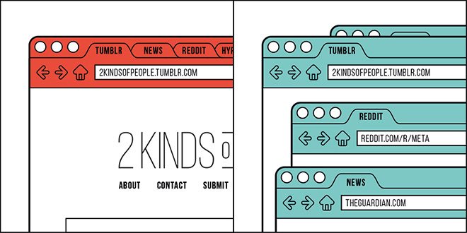 2 Kinds of People Illustration Series  (8)