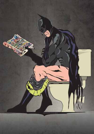 Batman On the Toilet (1)
