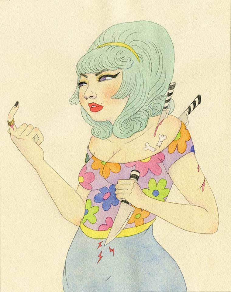 Illustrations by artist Sashiko Yuen (2)
