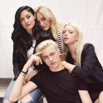 Lucky Blue Smith and the Fam