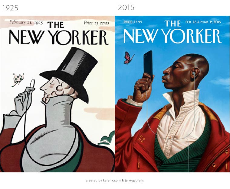 The Evolution of Magazine Covers (1)
