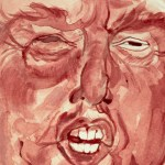 Donald Trump Portrait Painted with Artists Menstrual Blood