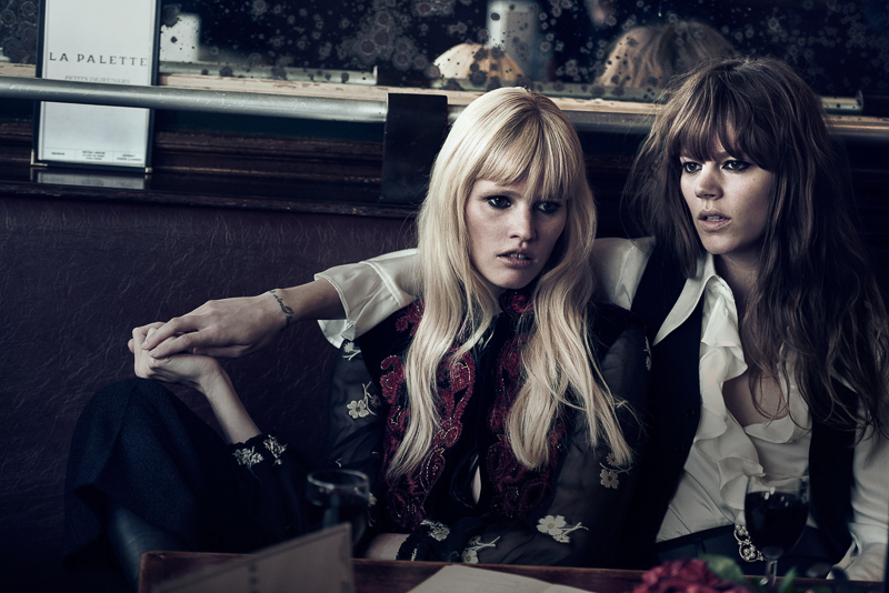 Freja Beha Erichsen & Lara Stone by Peter Lindbergh (4)