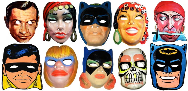 Massive Vintage Halloween Mask Collection (16)