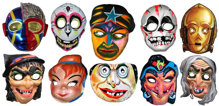 Massive Vintage Halloween Mask Collection (18)