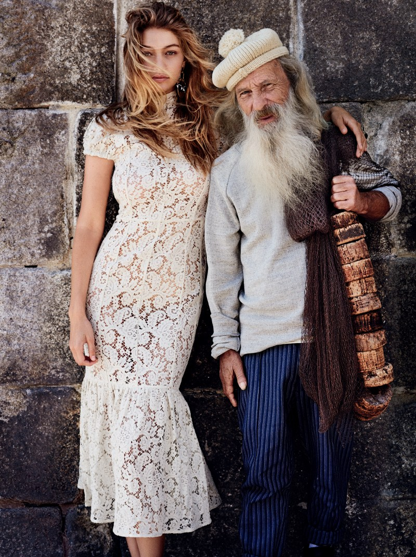 Gigi Hadid & Domhnall Gleeson by Mario Testino (10)