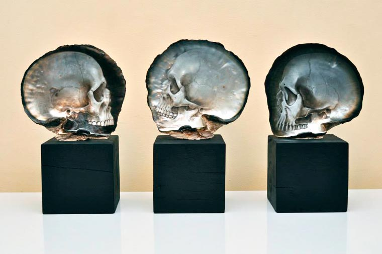 Skull Carved Seashells by Gregory Halili (4)