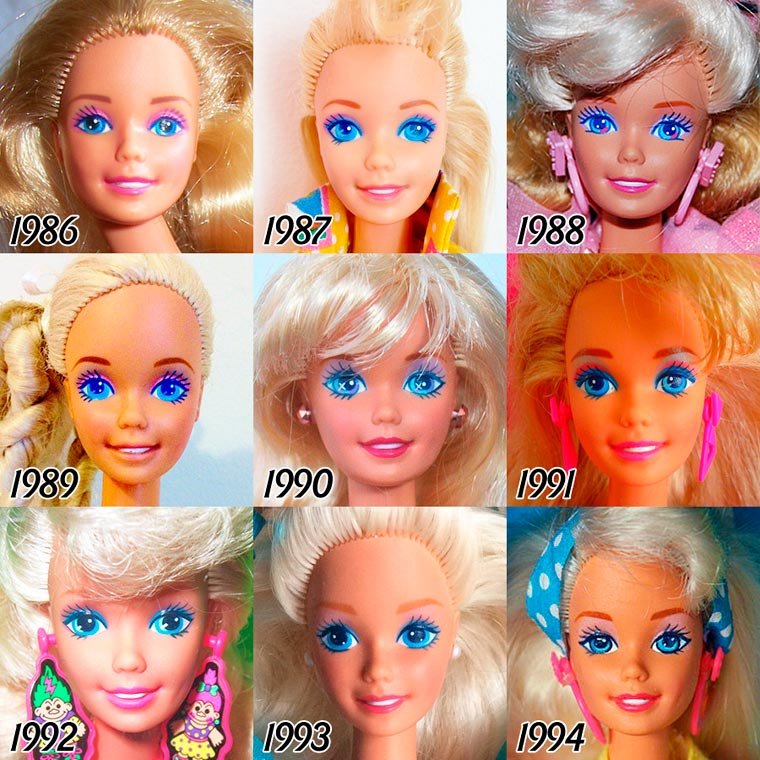 The Evolution of BARBIE from 1959 - 2015 (4)
