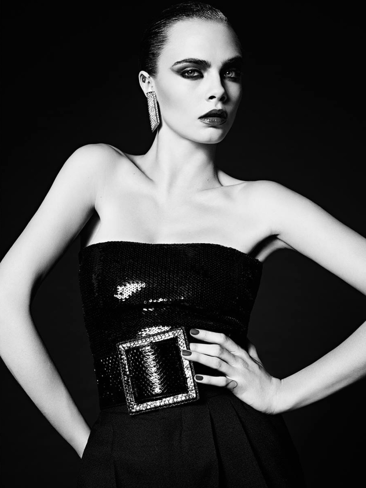 Cara Delevingne for Saint Laurent La Collection De Paris FW 2016 (3)