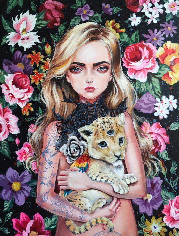 Wide Eyed Surreal Portraits by artist Julie Filipenko (7)