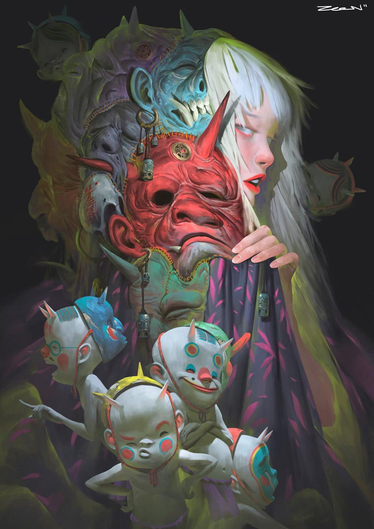 Fantasy Portait Illustrations by Zeen Chin (2)