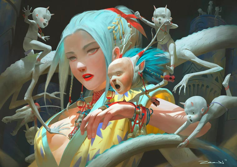 Fantasy Portait Illustrations by Zeen Chin (3)