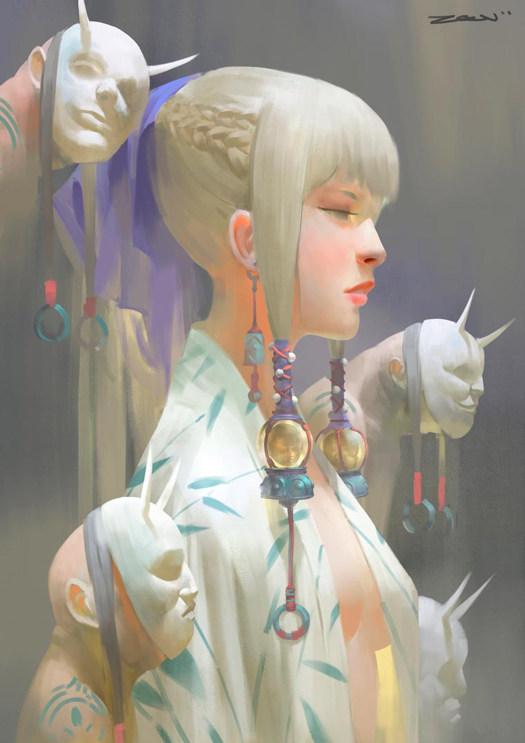 Fantasy Portait Illustrations by Zeen Chin (5)