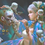 Fantasy Portrait Illustrations by Zeen Chin