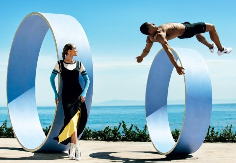 Gigi Hadid & Ashton Eaton by Mario Testino (3)